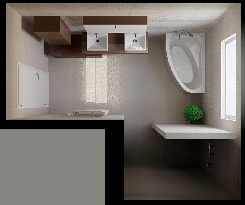 Návrh interiéru, koupelna