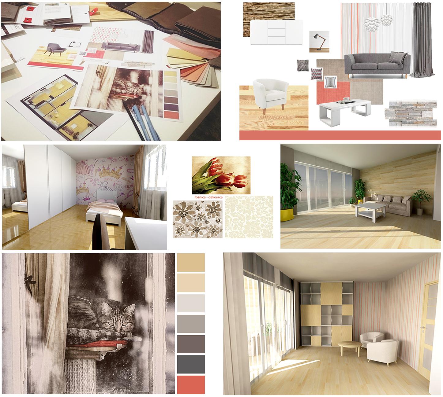 Vizualizace, kompletní návrh interiér