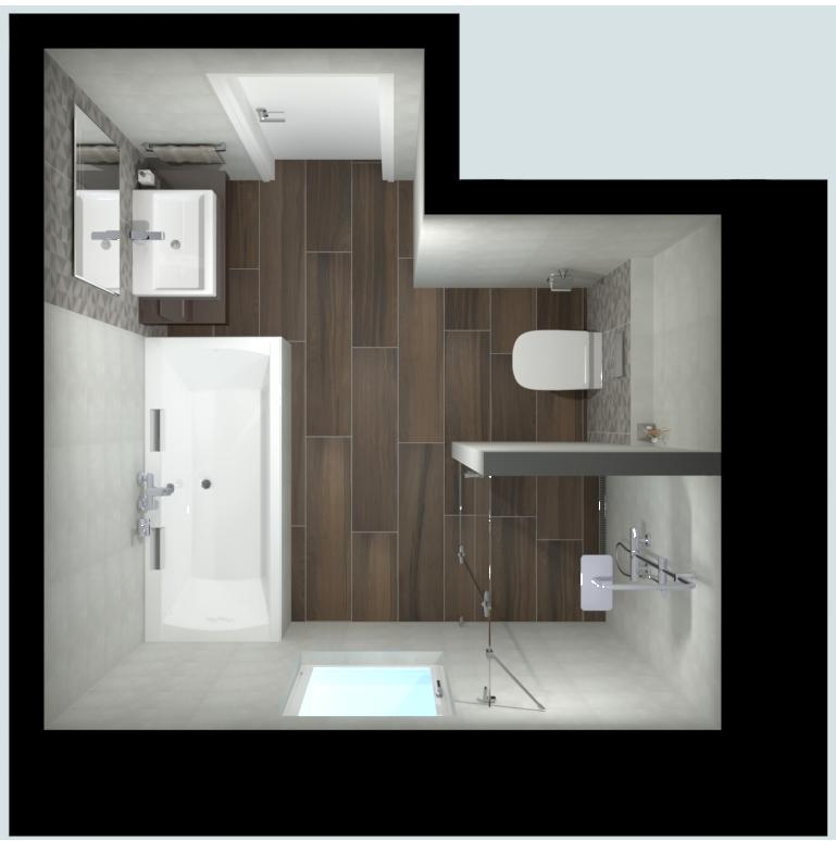 Vizualizace, koupelna