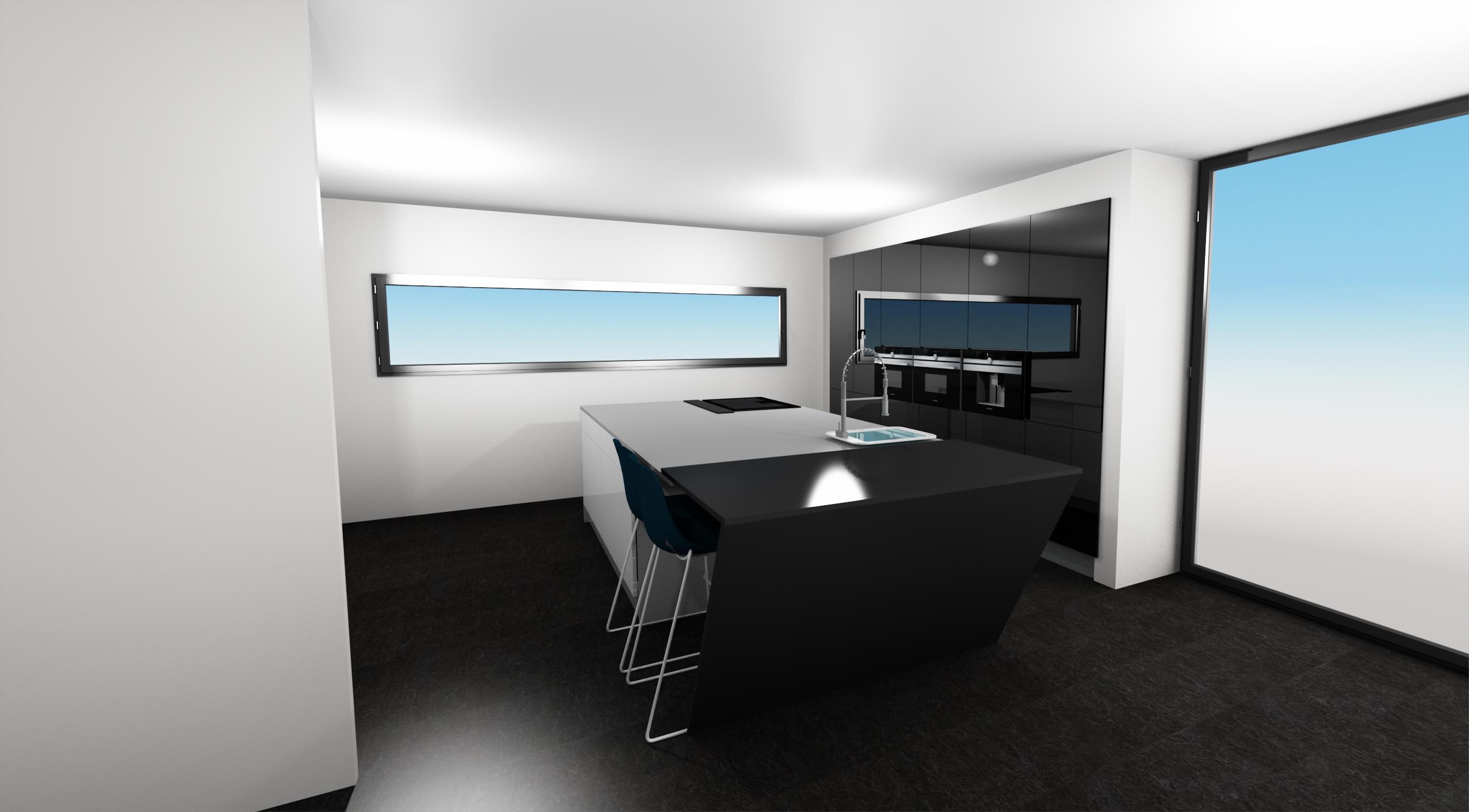 Návrh interiéru, kuchyně